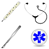 Set of medical accessories | Stock Vector Graphics