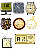 Vector clipart: Collection of s clock