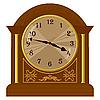 Vector clipart: old floor clock