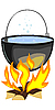 Vector clipart: fire and pot