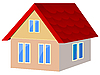Vector clipart: house with red tile