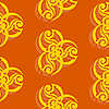 Vector clipart: Seamless texture with ornament