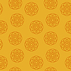 Seamless texture on an orange background | 向量插图