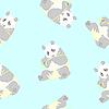 Векторный клипарт: Бесшовные текстуры панда