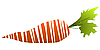 Vector clipart: Stylized carrot