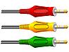 Vector clipart: Colored detachable connectors