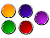 Vector clipart: Set of color buttons 1