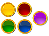 Vector clipart: Set of color buttons 3