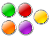 Vector clipart: Set of color buttons 4