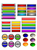 Vector clipart: Set of color buttons 7