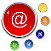 Векторный клипарт: Электронная почта - кнопка