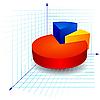 Vector clipart: Colorful 3d pie graph