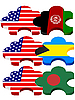puzzles with national symbolics of United States America,