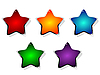 colored stars