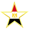 Vector clipart: Gold star with flag of Egypt