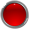 Vector clipart: glossy red button
