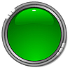 Glossy green button | Stock Vector Graphics