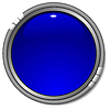 Vector clipart: glossy blue button