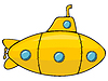 Vector clipart: Yellow submarine