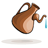 Clay jug and drop of water | Stock Vector Graphics