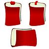 Векторный клипарт: Красный ноутбук с закладкой