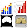Vector clipart: set charts