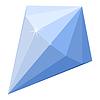 Vector clipart: Cartoon blue diamond