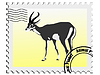 Vector clipart: stamp with gazelle