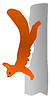Vector clipart: drawing squirrel