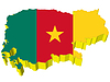 Vektor Cliparts: s 3D Karte von Kamerun