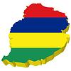 Vektor Cliparts: 3D-Landkarte von Mauritius