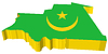Vector clipart: 3D map of Mauritania