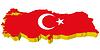 Vektor Cliparts: s 3D-Karte der Türkei