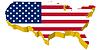 Vektor Cliparts: s 3D-Karte der USA