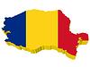 Vektor Cliparts: 3D-Landkarte von Rumänien