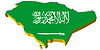Vektor Cliparts: 3D-Landkarte von Saudi-Arabien