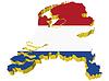 Vektor Cliparts: s 3D-Karte der Niederlande