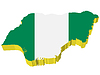 Vector clipart: 3D map of Nigeria