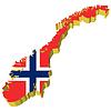 Vektor Cliparts: 3D-Landkarte von Norwegen