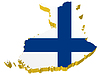 Vector clipart: 3D map of Finland
