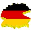 Vektor Cliparts: 3D-Landkarte Deutschlands