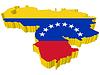 Векторный клипарт: 3D-карта Венесуэлы