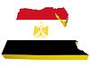 Векторный клипарт: 3D-карта Египта