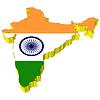 Векторный клипарт: 3D-карта Индии
