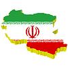 Векторный клипарт: 3D-карта Ирана
