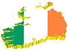 Векторный клипарт: 3D-карта Ирландии