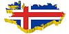 Векторный клипарт: 3D-карта Исландии
