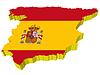 Векторный клипарт: 3D-карта Испании
