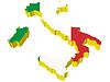 Векторный клипарт: 3D-карта Италии