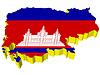 Векторный клипарт: 3D-карта Камбоджи